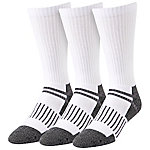 Blue Mountain Men's Large White Cushioned Steel Toe Crew Sock, Pack of 3 Pairs