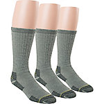 Blue Summit by Interwoven Men's Full Cushioned Work Socks, Pack of 3 Pairs