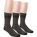 Blue Summit by Interwoven Men's Tonal Stripe Crew Socks, Pack of 3 Pairs