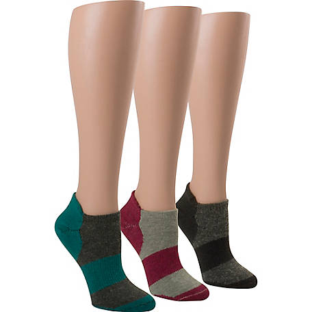 Blue Summit by Interwoven Women's Flat Knit Wool No Show Socks, Pack of 3 Pairs