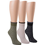 Blue Summit by Interwoven Women's Mini Marled Crew Socks, Pack of 3 Pairs