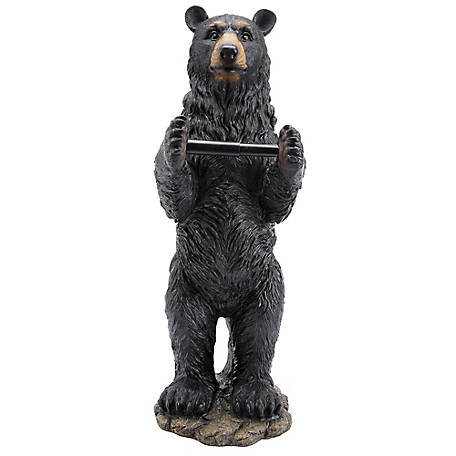 Red Shed Black Bear Toilet Paper Holder