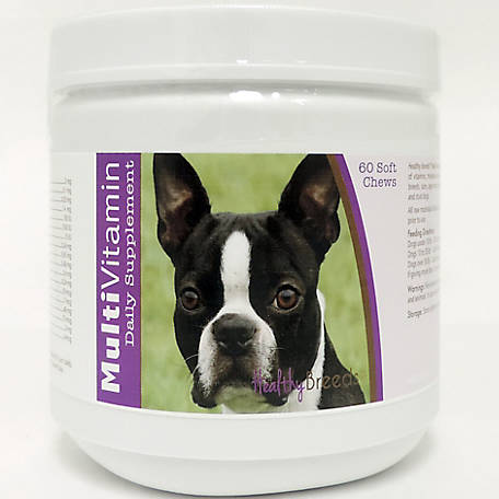 Healthy Breeds Boston Terrier Multi-Vitamin Soft Chews, Pack of 60