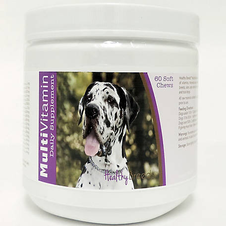 Healthy Breeds Great Dane Multi-Vitamin Soft Chews, Pack of 60
