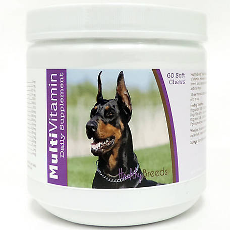 Healthy Breeds Doberman Pinscher Multi-Vitamin Soft Chews, Pack of 60