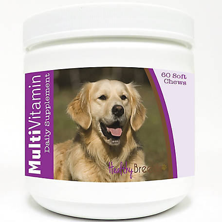 Healthy Breeds Golden Retriever Multi-Vitamin Soft Chews, Pack of 60