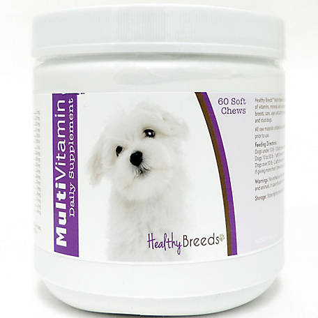 Healthy Breeds Maltese Multi-Vitamin Soft Chews, Pack of 60