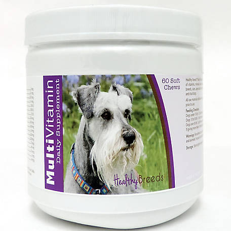 Healthy Breeds Miniature Schnauzer Multi-Vitamin Soft Chews, Pack of 60
