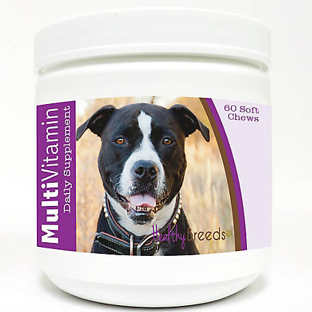 Healthy Breeds Pit Bull Multi-Vitamin Soft Chews, Pack of 60