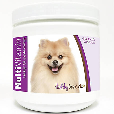 Healthy Breeds Pomeranian Multi-Vitamin Soft Chews, Pack of 60