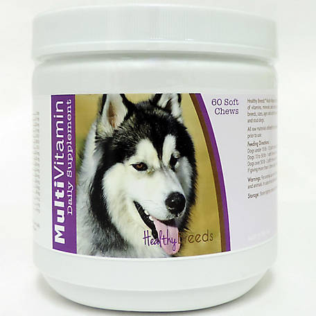 Healthy Breeds Siberian Husky Multi-Vitamin Soft Chews, Pack of 60