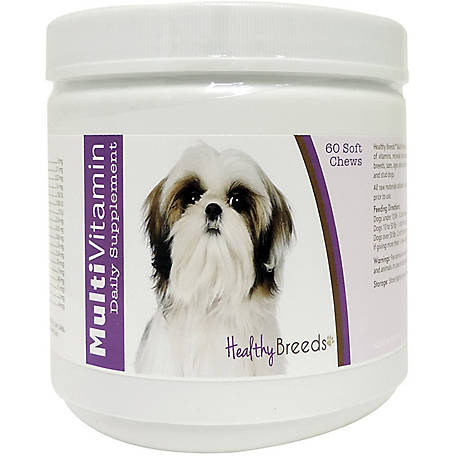 Healthy Breeds Shih Tzu Multi-Vitamin Soft Chews, Pack of 60