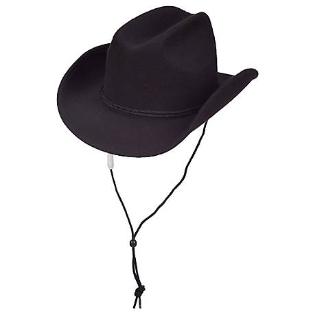Dorfman Pacific Polyester Western Hat with Chin Cord