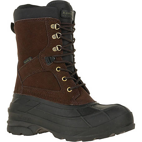 Kamik Men's NationPlus Waterproof Leather Winter Boot at Tractor Supply Co.