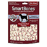 SmartBones Rawhide Free Dog Bones, Made with Real Chicken, 24 Mini Bones