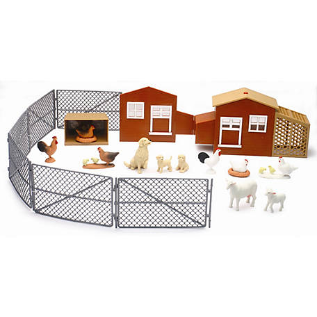 New-Ray Country Life Chicken Coop Set with Sound, SS-05126