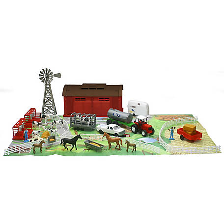 New-Ray Deluxe Machine Shed with Animals, SS-05306E