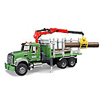 Bruder Mack Granite Timber Truck with Loading Crane and 3 Trunks, 2824