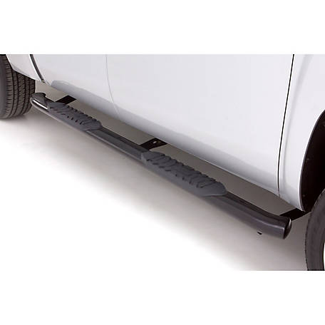 Lund 4 in. Oval Curved Steel Nerf Bar, 1999-2016 Ford F-250 Super Duty, 23494400