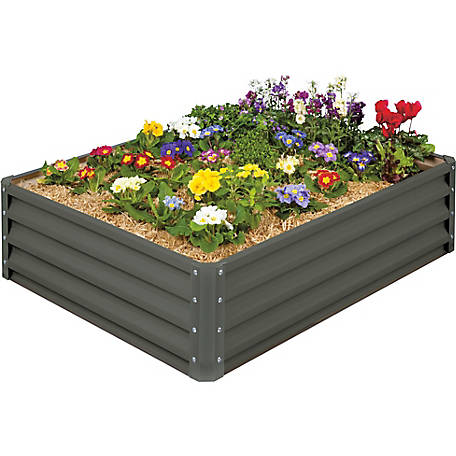 Raised Garden Bed, Slate Gray