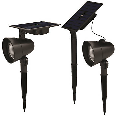 Duracell 70L Cast Metal Solar Spot Light, Pack of 2