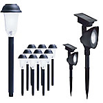 EZSolar Solar Combo with 10 Pathway Lights and 2 Spot Lights, Pack of 12