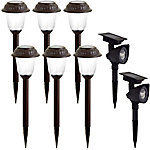 EZSolar Solar Combo with 6 Pathway Lights and 2 Spotlights, Pack of 8