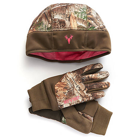 Camo Hat Mitten Set, Realtree Xtra