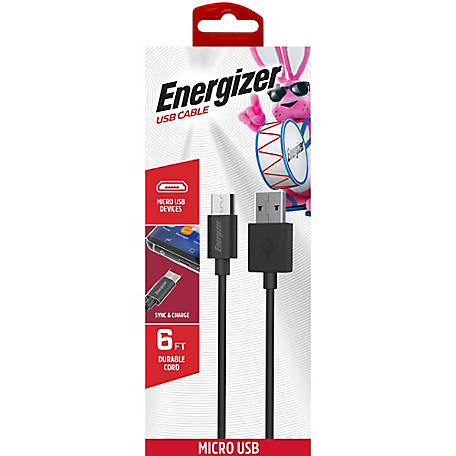 Energizer 6 ft. Micro USB Cable
