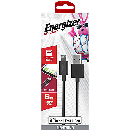 Energizer 6 ft. Lightning Cable