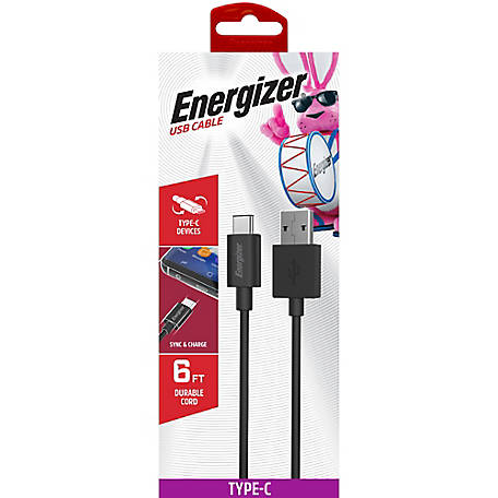 Energizer 6 ft. Type USB-C Cable