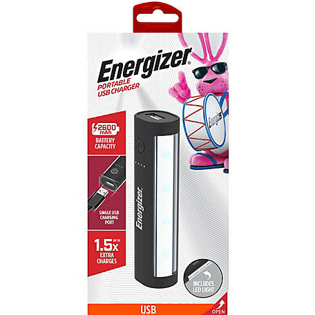 Energizer 2600mAh Portble Backup Battery Power Pack With LED Light