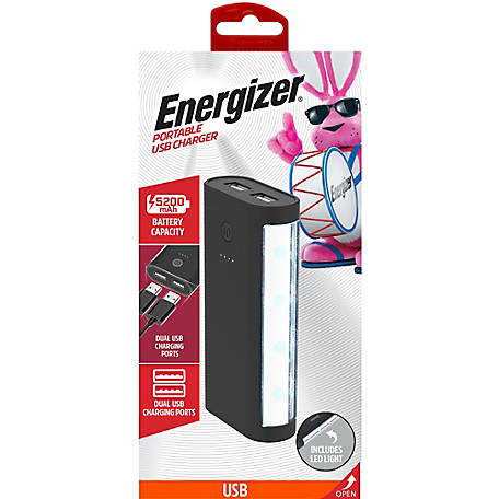 Energizer 5200mAh Portble Backup Battery Power Pack With LED Light