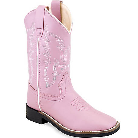 Old West VB9131 Kid's 9 in. Western Boot, Pink