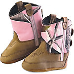 Old West Infant's Camo Western Bootie