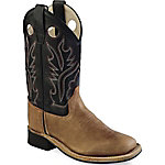 Old West BSY1814 Kid's 11 in. Western Boot, Light Brown