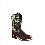 Old West BSY1816 Kid's 11 in. Western Boot, Rust