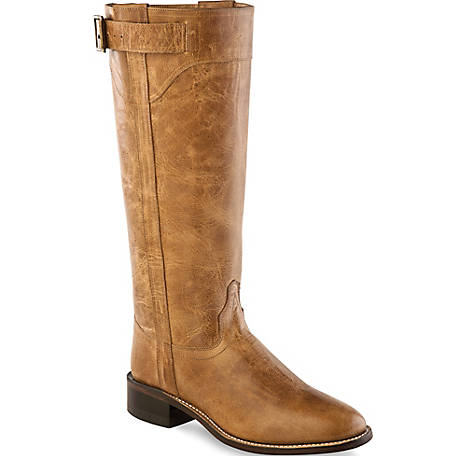 Old West LB1601 Women's 14 in. Western Boot, Tan Fry