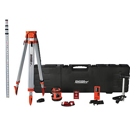 Johnson Level Self-Leveling Rotary Laser System, 800 ft.