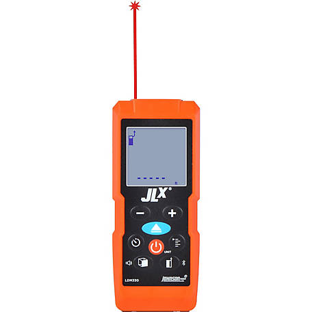 Johnson Level JLX 330 ft. Laser Distance Meter with Angle Sensor and Bluetooth