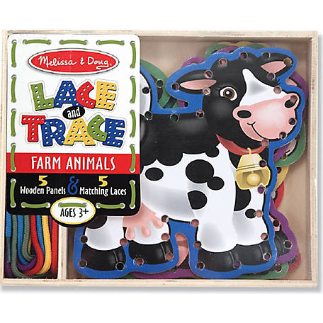 Melissa & Doug Farm Animals Lace Trace Panels