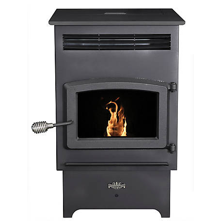 King 2,200 sq. ft. Pellet Stove with Remote and Wall Thermostat, KP60