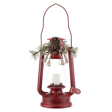 Red Shed Christmas Lantern, Red