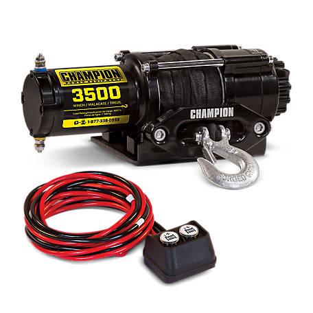 4a4e71324a7 Champion Power Equipment 3500-lb. ATV UTV Synthetic Rope Winch ...