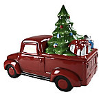 Red Shed Holiday Truck Cookie Jar