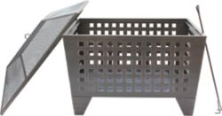 Shop 30 in. Square Steel Fire Pit with Lid at Tractor Supply Co.