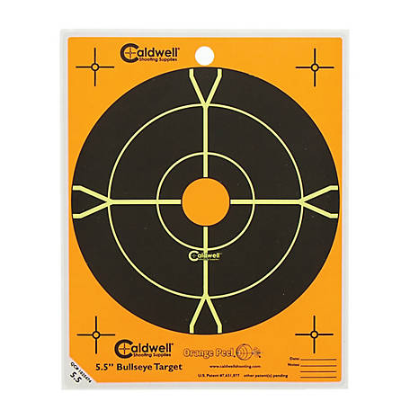 Caldwell Orange Peel 5.5 in. Bull's Eye Target 10 Pack, 550010