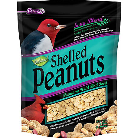 Brown's Song Blend Shelled Peanuts, 3 lb.