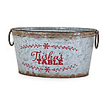 Trisha Yearwood Home Collection Jasper Farms Metal Bucket With Message