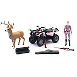 New-Ray Pink Camo Vehicle Hunting Set